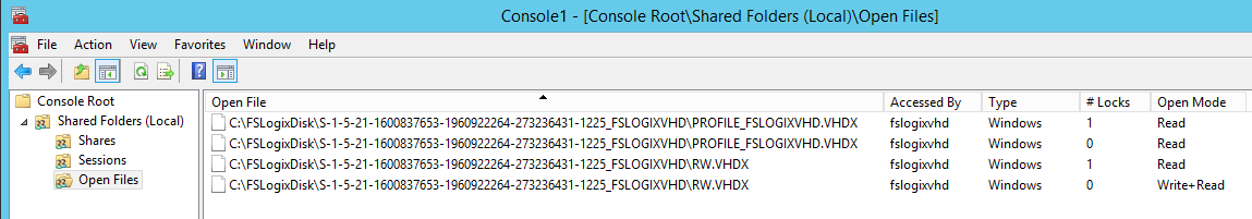 Using the same FSLogix Profile Container at the same time on